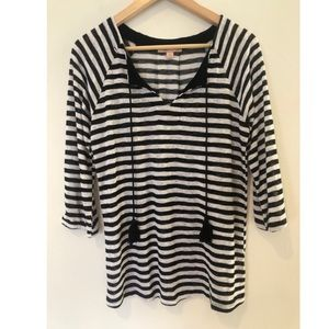 Gibson Latimer Large striped Textured Tunic
